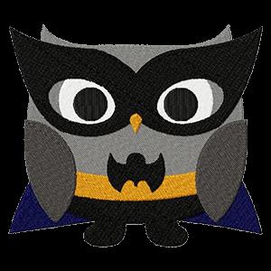 Bat/Super Owl Embroidery